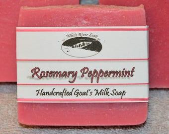 Goats Milk Handmade Soap:  Rosemary Peppermint