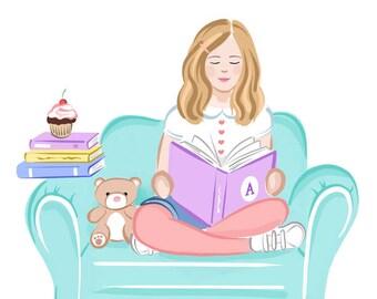 Bookish Art Print, Digital Download, The Future is Female, Kids Room Decor Idea, Wall Decor, Unique Printable Wall Art, Free Shipping