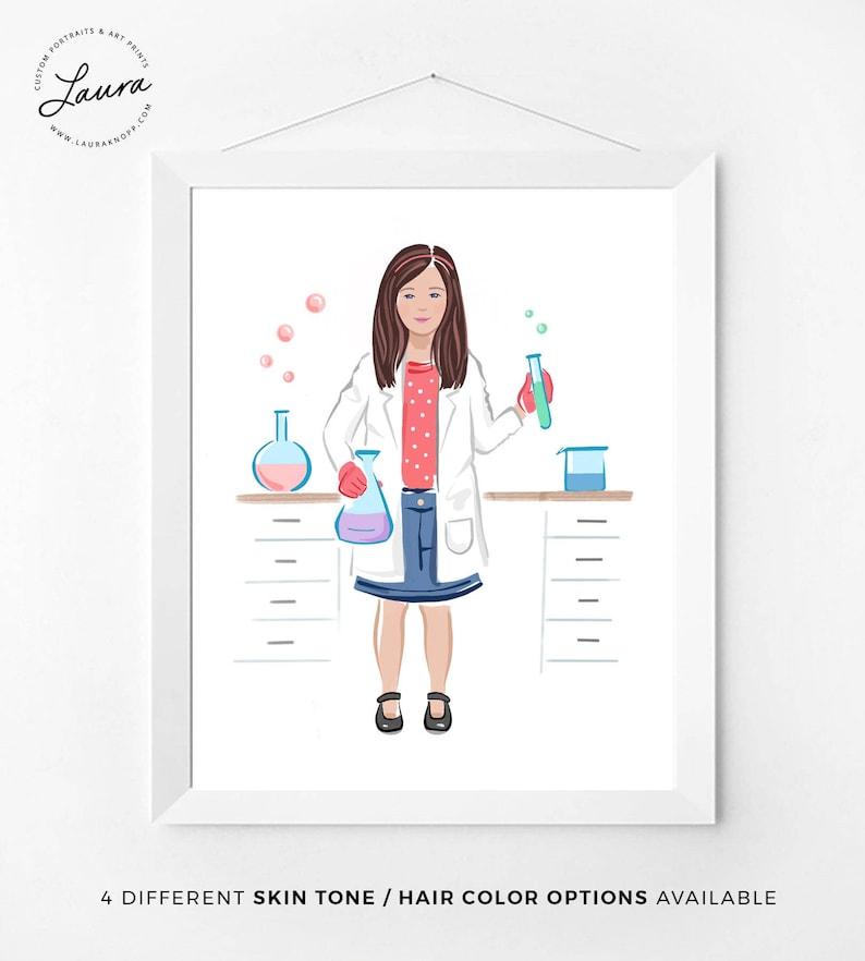 Feminism Art Print, Scientist, Science Lab, Inspirational Kids Gift,  Feminism, Feminist Wall Art, Cute Girls Room Decor Idea