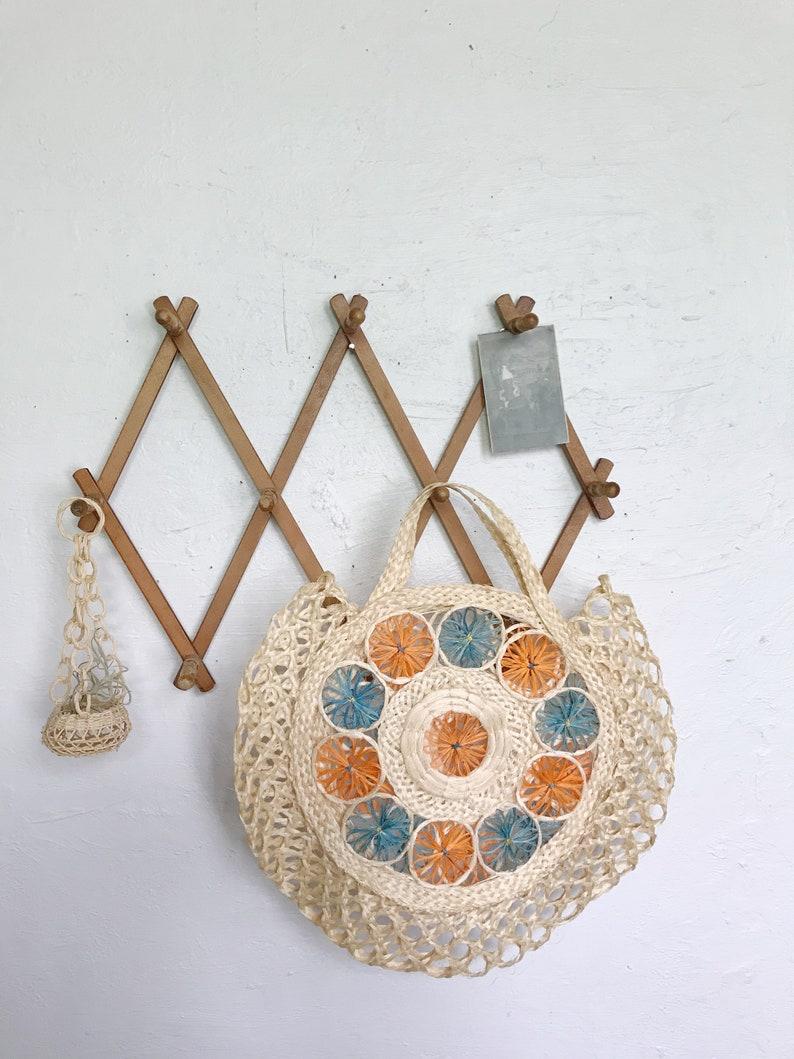 market beach tote hand purse Woven straw wicker bag