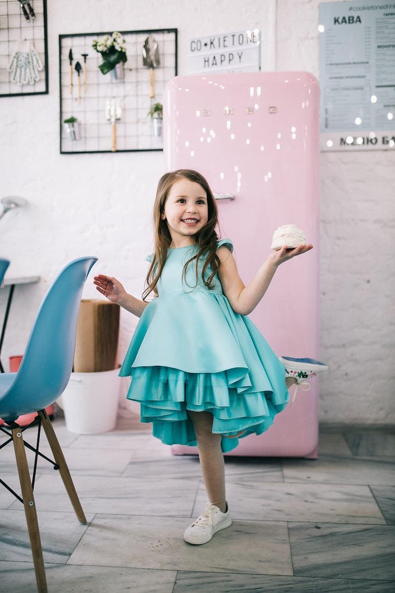 cb1eaf4aa6834 Robe de fille de mer vert bleu bleu de robe de fille de