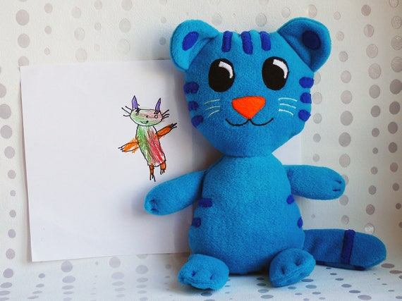 Daniel Tiger, Tigey, Daniel Tiger Nachbarschaft, Daniel Tiger Tigey, blaue  Tigey, blaue Tiger, Daniel Tiger Plüschtier, Tigey Plüsch, vor dem ...
