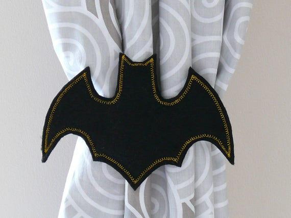 2 Bat Rideau Nouer Dos Super Heros Bat Tie Dos Rideau Bat Bat