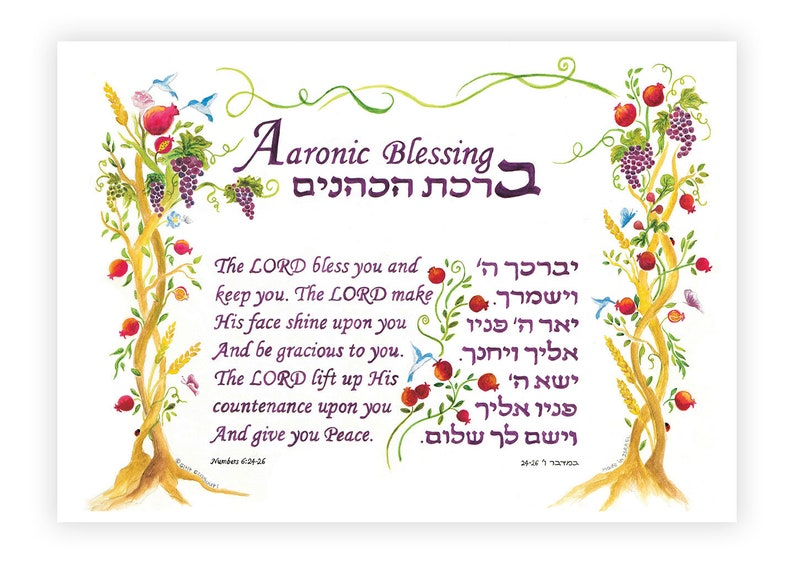 Aaronic Blessing Numbers 6:24-26 The Lord Bless You English