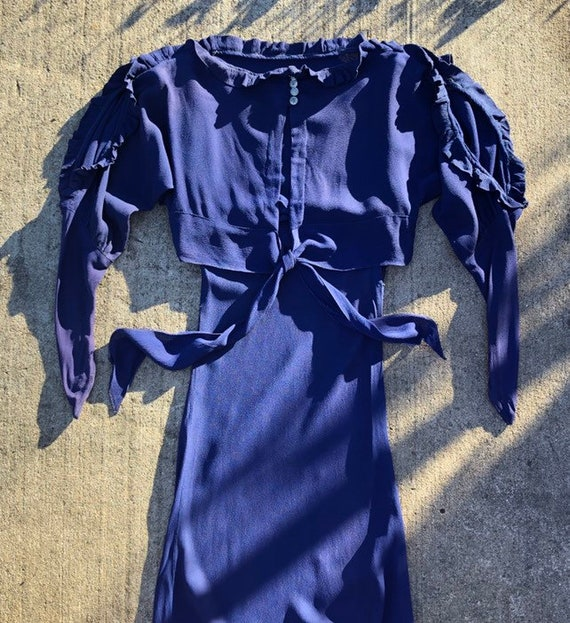 RESERVED 1930s crepe dress set as-is