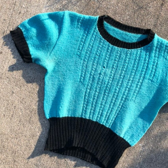 1930s 1940s knit sweater