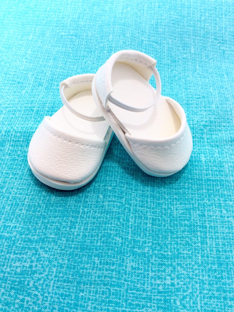 """IVORY T-Straps Mary Jane DOLL SHOES fits American Girl 14.5/"""" WELLIE WISHERS DOLL"""