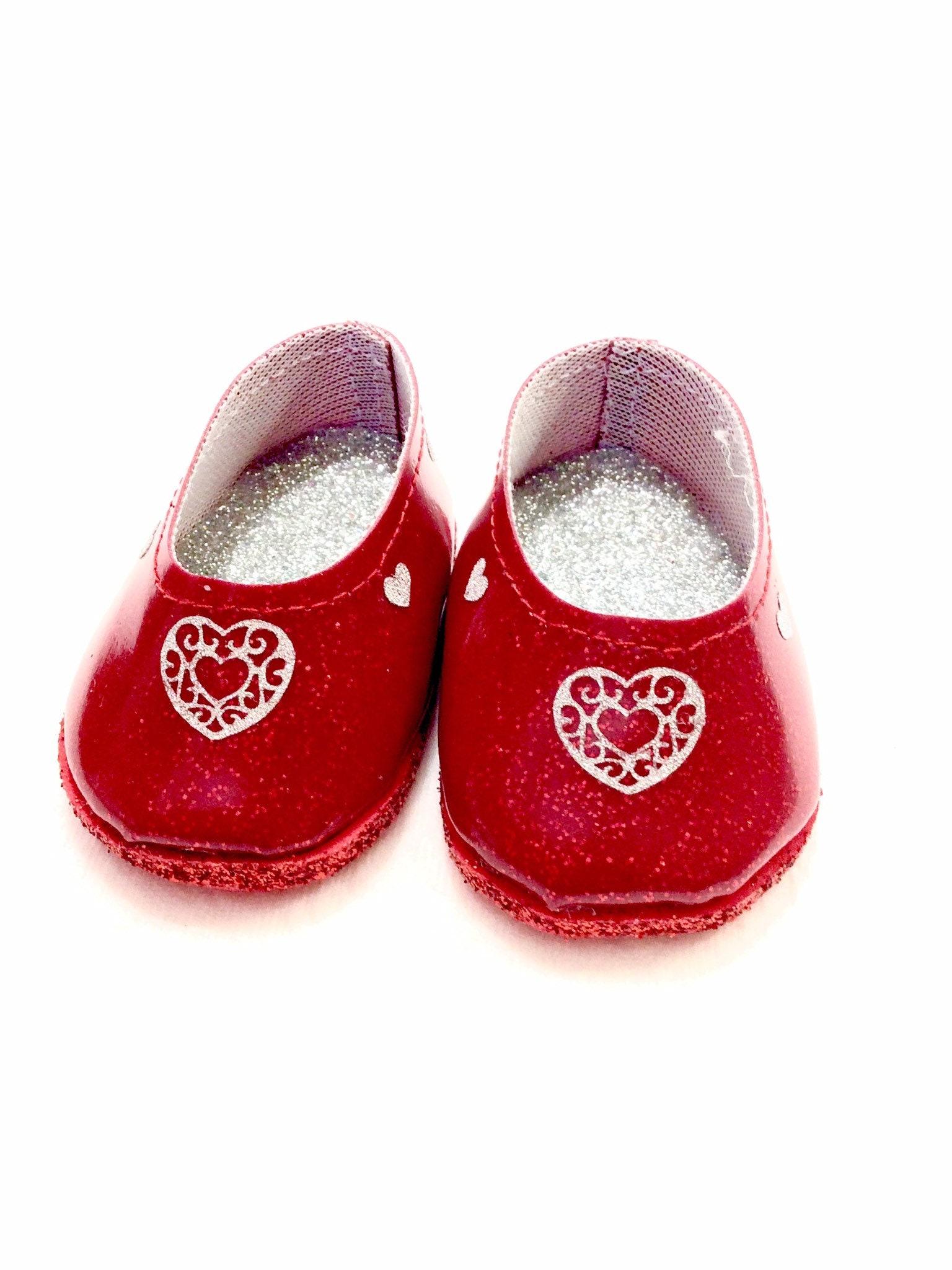 """Silver Glitter Rhinestone Flats Fits Wellie Wisher 14.5/"""" American Girl Shoes"""