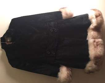50-60s Fur Trimmed Princess Coat