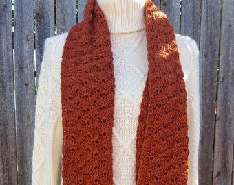 Crochet Shells Infinity Scarf
