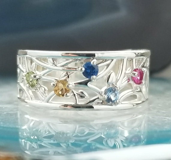 Mother S Ring Birthstone Ring Family Jewelry Etsy