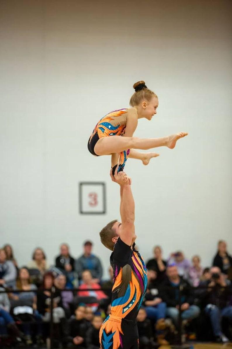 l\u00e9otard gymnastique natation Patin Acrobatique a\u00e9robique Acrosport rythmique danse artistique cirque spectacle nage Justaucorps