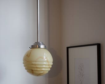 Vintage Globe Pendant Light (1920s/30s)