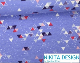 SnowKitz lilac, purple, white GLITZER Triangles sweat / summer sweat / thick jersey, triangle, graphic, pattern combo to deer, snowkitz