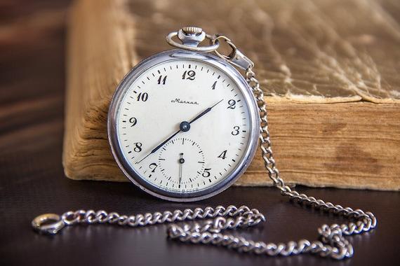 Molnija watch Mechanical watch Pocket watch Vintag