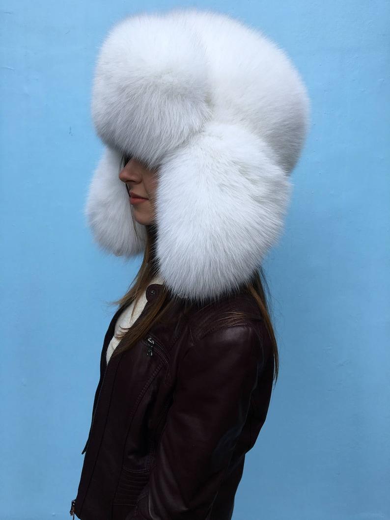 3dc7b667c31ad Arctic Fox Fur Full Ushanka Hat Adjustable Saga Furs Hat