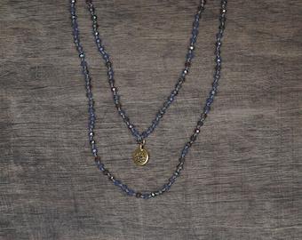 Deep Purple Crystal Necklace