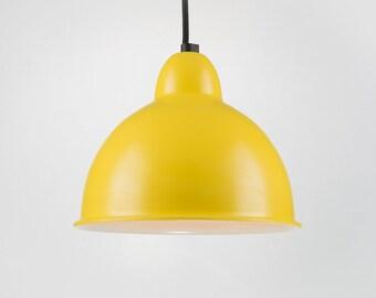 Retro Ceiling Pendant With Shade | Yellow | Retro | Loft | Industrial | Minimalist | Lamp