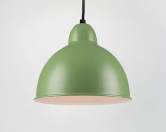 Retro Ceiling Pendant With Shade | Green | Retro | Loft | Industrial | Minimalist | Lamp