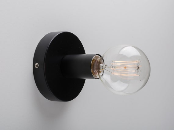 Ove Ceiling Wall Mount Light Fixture Black On Off Switch Plug In Option Retro Loft Industrial Minimalist Lamp