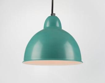 Retro Ceiling Pendant With Shade | Blue | Retro | Loft | Industrial | Minimalist | Lamp