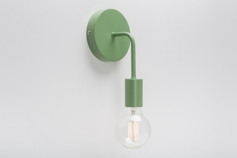 Loui Wall Sconce Green On/Off Switch & Plug-in Option | Etsy