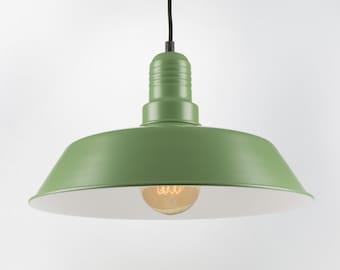 Retro Ceiling Pendant With Big Shade | Green | Retro | Loft | Industrial | Minimalist | Lamp