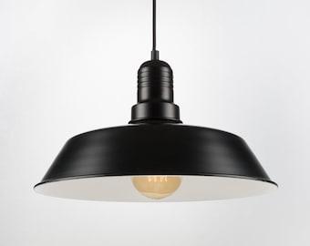 Retro Ceiling Pendant With Big Shade | Black | Retro | Loft | Industrial | Minimalist | Lamp