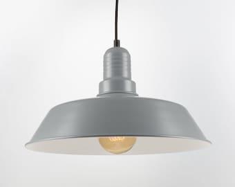 Retro Ceiling Pendant With Big Shade | Gray | Retro | Loft | Industrial | Minimalist | Lamp