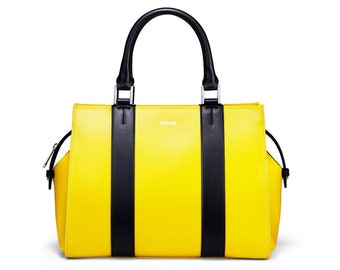 Yellow Handbag  Yellow Shoulder Bag  Yellow Top Handle Bag