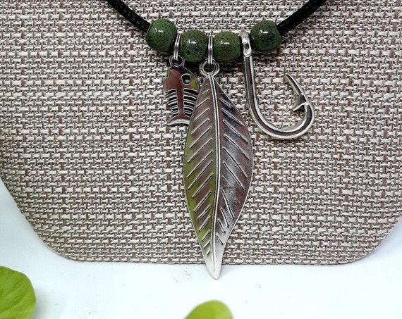 Original Design, Cork Rope (Vegan) Necklace, Custom Length Necklace, Includes Cloth Gift Bag