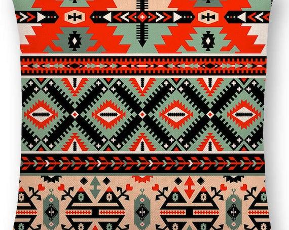 Bohemia, Cushion Cover, Vintage Pattern, Ethnic Striped, Navajo Arrow, Sofa Throw, Pillow Case