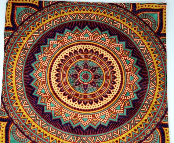 Hippie Mandala Boho Rainbow Floral Pattern Sofa Throw Pillow Case Sun Moon Flowers Colorful Dream Fantasy Cushion Cover