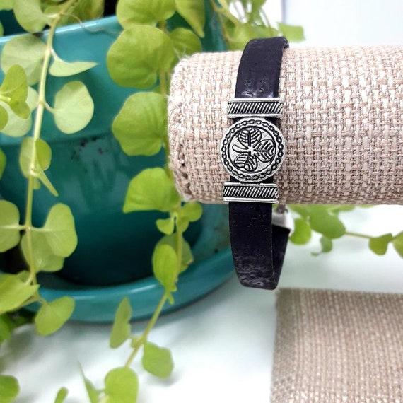 Original Design, Custom Size, Portuguese Cork Bracelet, Includes Cloth Gift Bag