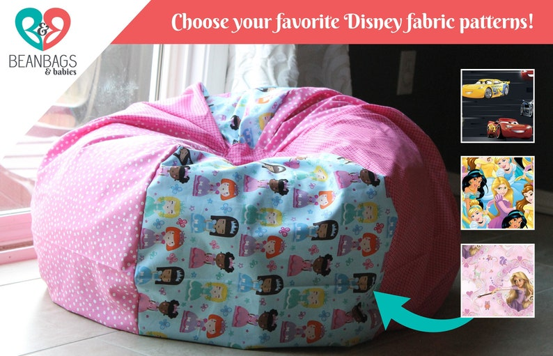 Custom Disney Characters Bean Bag Chair Cover Reader S Etsy
