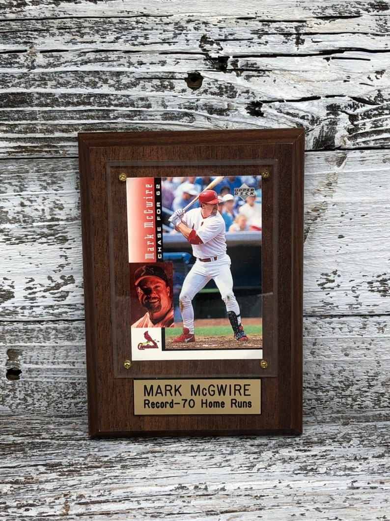 1998 Mark Mcgwire 70 Home Runs Commerative Card Plaque