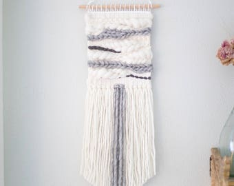 Marble Grey wall hanging \ Weave \\ MTO \\ woven wall hanging \\ grey tapestry \\ grey home decor \\ grey nursery decor \ handwoven wall art