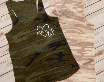 376b8ea326f6a MamaAF Tank - mama camo shirt - mom camo tank top - Mom Clothing