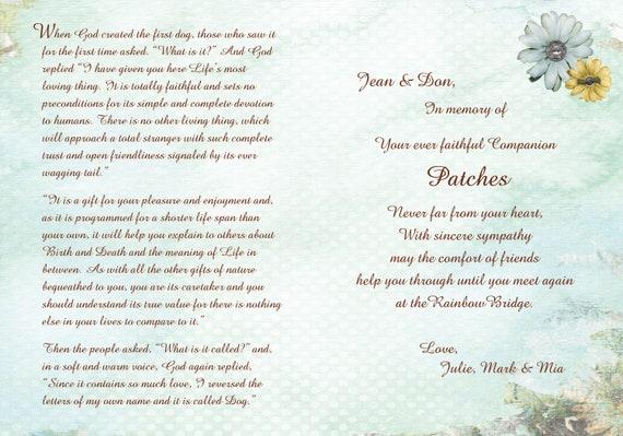 De Brug Van De Regenboog Van Storybook Gedicht Brug Van De Regenboog Regenboog Brug Hond Hond Sympathie Kaart Kat Sympathy Card Huisdier