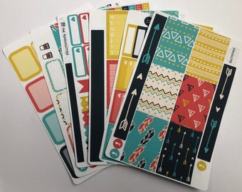 Neon Brights Planner Stickers for Classic Happy Planner