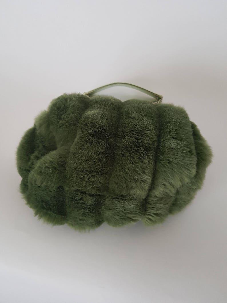 fcac0af9e6 Aldo Green Faux Fur Handbag Purse