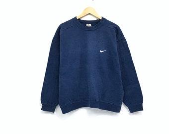3baf3fea79ec95 Vintage 90 s Nike sweatshirt Small Logo Hiphop Swag made in Japan Pullover  Jumper small logo Skateboard Hiphop Streetwear embroidedVintage j