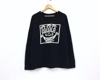 1f1db5c25 Vintage Keith Haring Sweatshirt Biglogo spellout sweatshirt pullover  streetwear vintage men clothingVintage men clothing