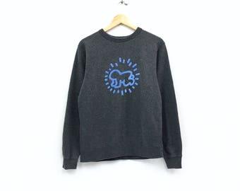 d35cd434d Vintage Keith Haring Sweatshirt Biglogo spellout sweatshirt pullover vintage  men clothingVintage men clothingVintage jumper