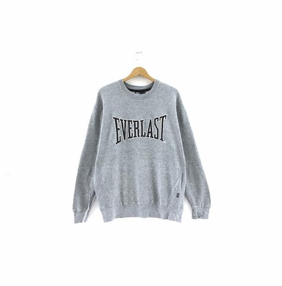Vintage Everlast Sweatshirt big logo embroidery Pu