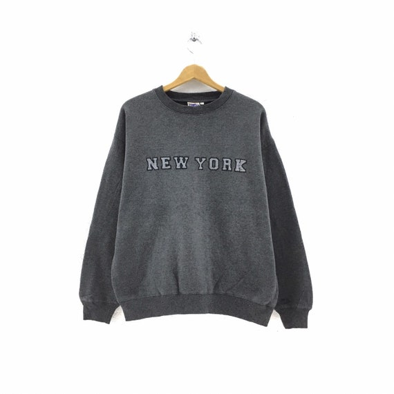 Vintage New York Sweatshirt Biglogo Embroidery pul