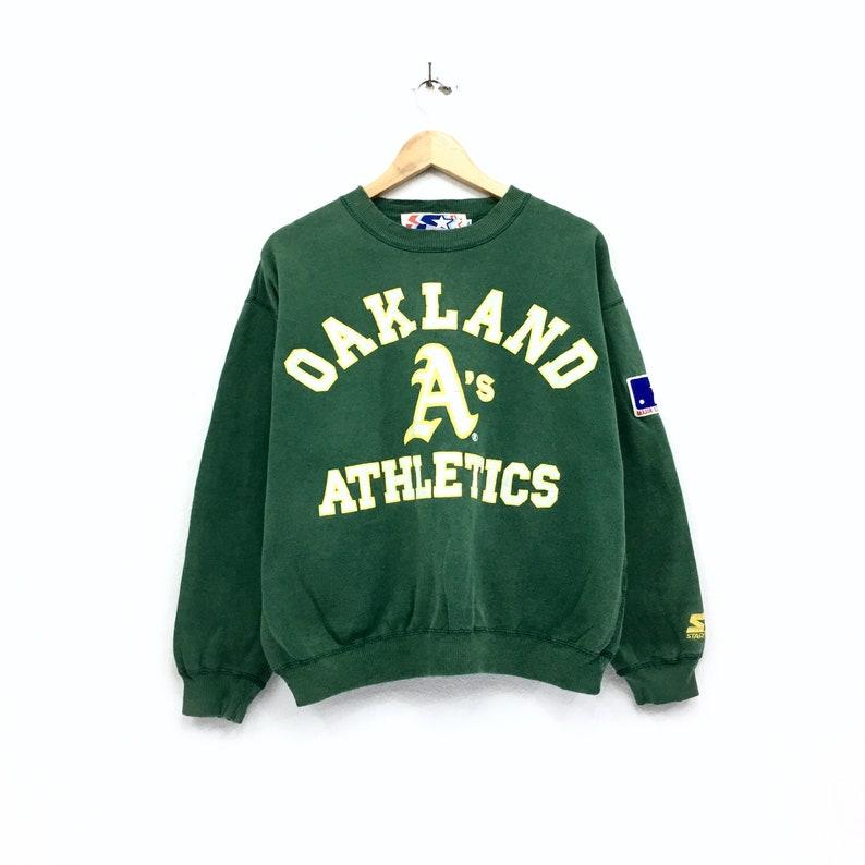 Vintage Starter Oakland A/'s Athletics X Major League Baseball Sweatshirt Biglogo Spellout Pullover Jumper vintage men clothing