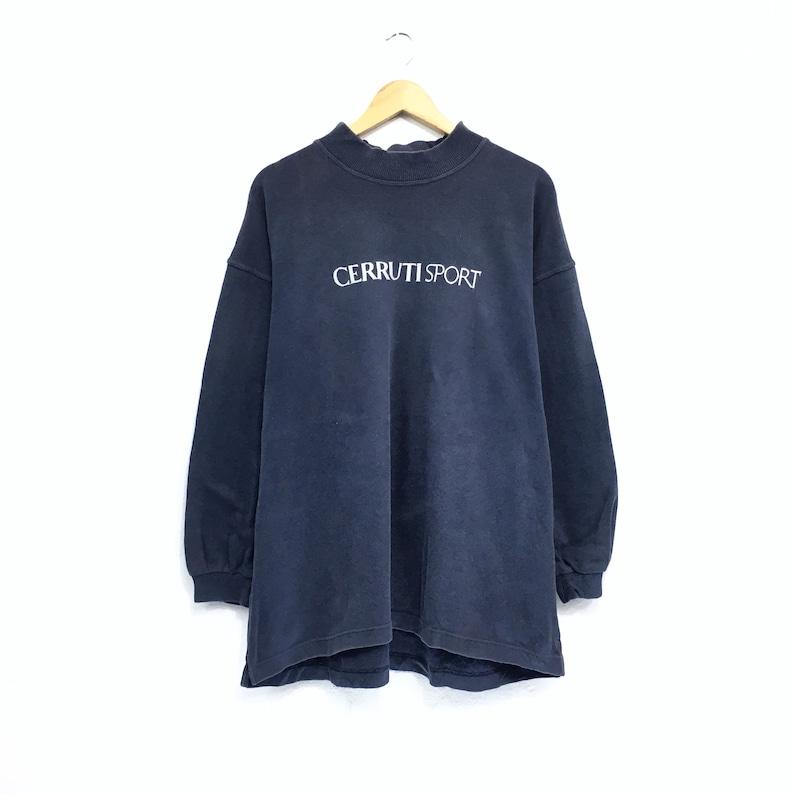 Vintage Cerruti Sweatshirt biglogo Made in Japan spellout embroidery Pullover Jumper vintage men clothingVintage jumper