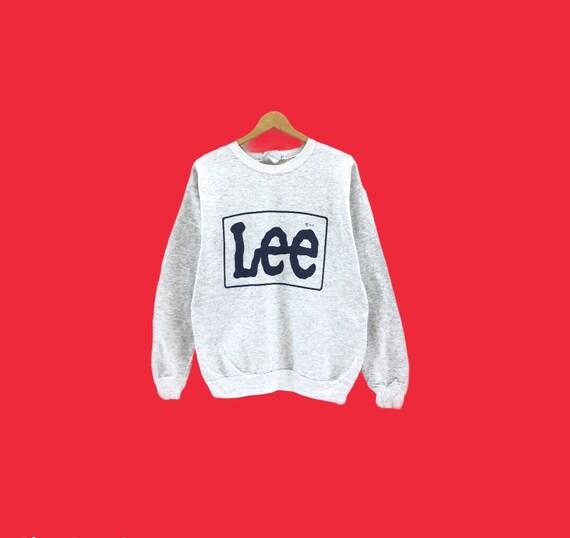 Vintage Lee Sweatshirt Big Logo Spellout Nice Desi