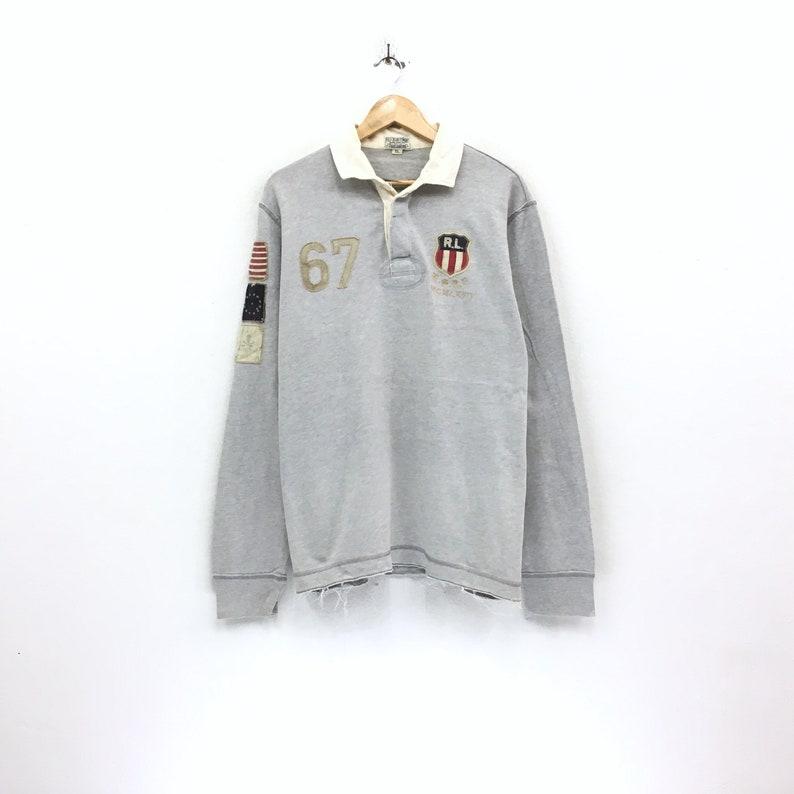 486c058bd5767 Vintage Polo Ralph Lauren RL-67 Sweatshirt Half Botton Big